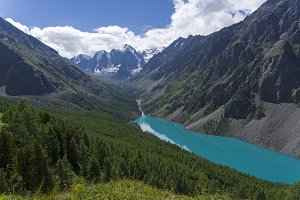 Shavlo Lake. Altai Mountains, Russia