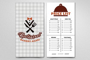 Double Sided Restaurent Menu