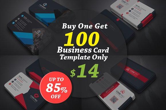 100 Business Cards Bundle Business Card Templates Creative Market