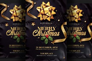 Christmas Invitation   Psd Flyer
