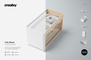 Crib Sheet Mockup Set