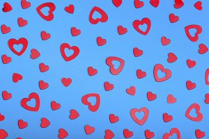 decorative hearts background