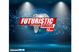 Hud futuristic element.Set of Circle