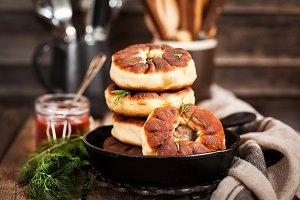 Russian deep fried meat patties