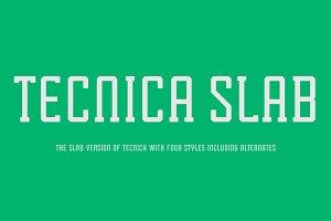 Tecnica Slab Font Family