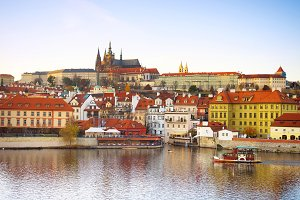 Prague Castle, Vltava river boat