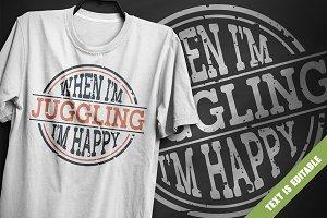 Juggling - T-Shirt Design