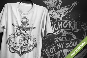 Anchor of My Soul - T-Shirt Design