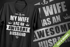 Awesome Husband - T-Shirt Design