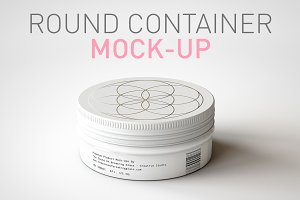 Round Cosmetic Tin Mock-Up