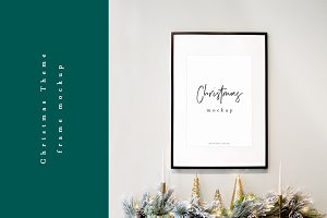 Christmas Frame Mockup Photo