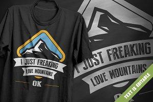 Love mountains - T-Shirt Design