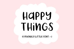 Happy Things | A Hand Drawn Font