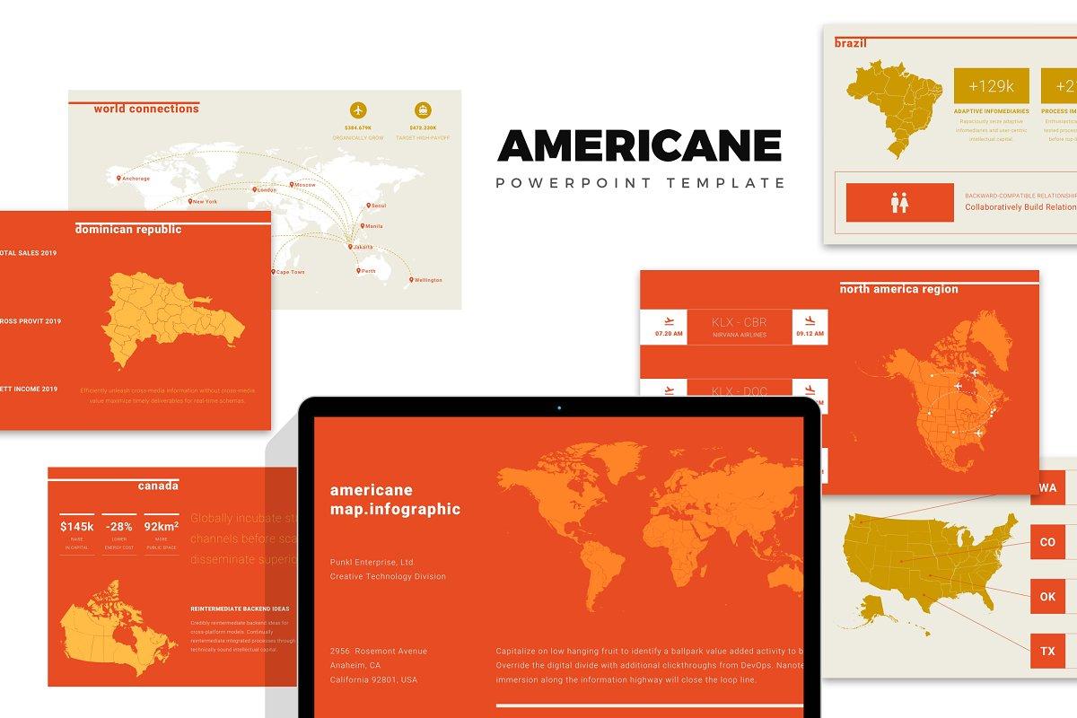 Americane : Region Map Powerpoint ~ PowerPoint Templates ...