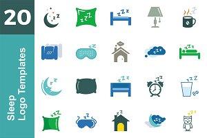 20 Logo Sleep Templates Bundle
