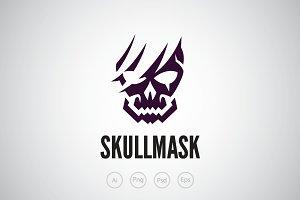 Broken Skull Logo Template