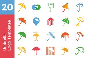 20 Logo Umbrella Templates Bundle
