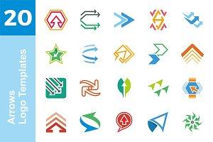 20 Logo Arrows Templates Bundle