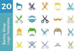 20 Logo Barber Shop Templates Bundle