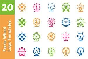 20 Logo Ferris Wheel Templates Bundl