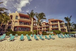 Beach establishment on the Playa del