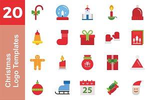 20 Logo Christmas Templates Bundle