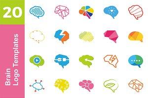 20 Logo Brain Templates Bundle