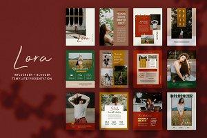 Influencer & Blogger Media Kit: LORA