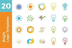 20 Logo Bright Templates Bundle