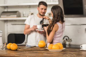 Young couple in the kitchen
