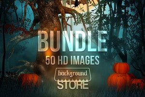 Halloween Backgrounds Bundle