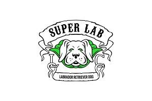 Super Labrador Retriever Dog Wearing
