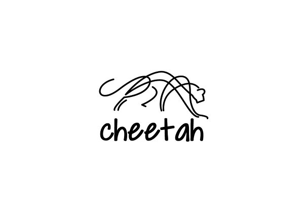cheetah logo creative illustrator templates creative market cheetah logo