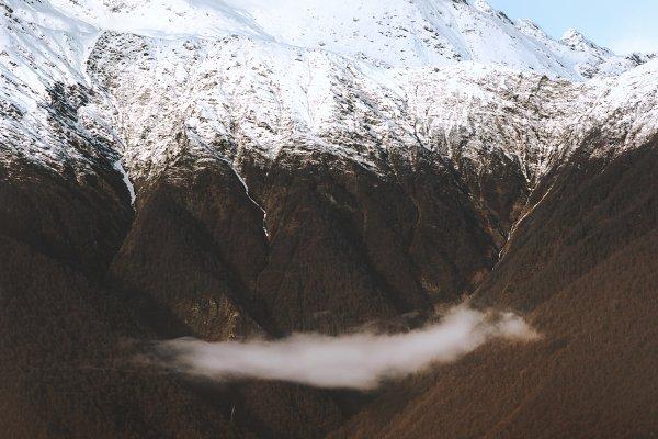 Stock Photos: e v e r s t - Snowy mountains range Landscape