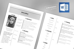 Gray Resume CV Template MS Word