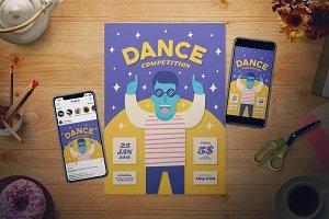 Dance Competition Flyer Set