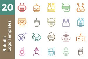 20 Logo Robotic Templates Bundle
