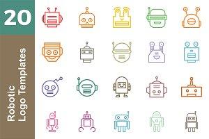 20 Logo Robotic Templates Bundle
