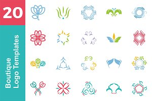 20 Logo Boutique Templates Bundle