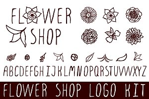 Logo kit with floral elements