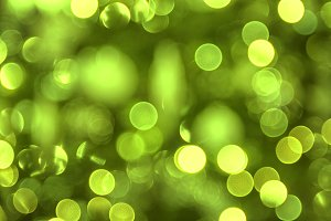 Christmas lights in green