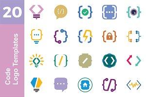 20 Logo Code Templates Bundle