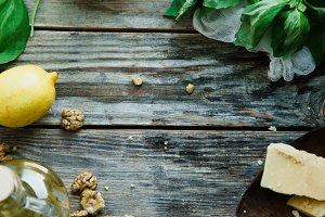 Basil pesto ingredients