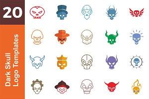 20 Logo Dark Skull Templates Bundle