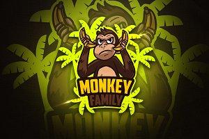 Monkey Family - Mascot & Esport Logo
