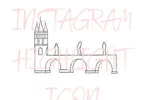 Prague Charles Bridge Instagram Icon