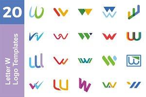 20 Logo Letter W Templates Bundle
