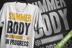 Summer body - T-Shirt Design