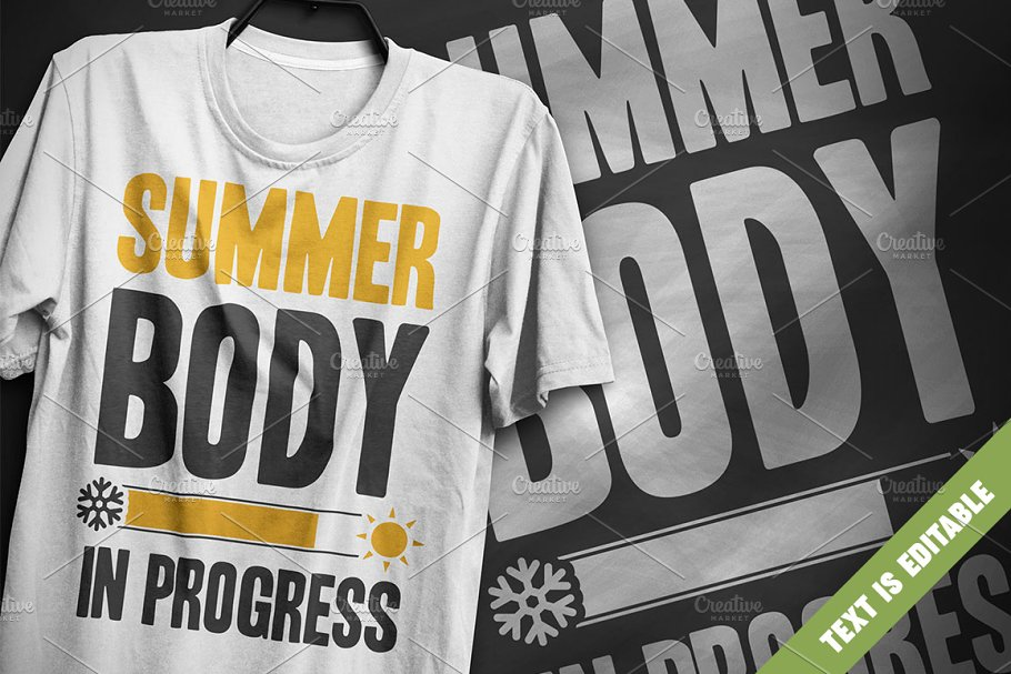 0d2c30fa7fe8 Summer body - T-Shirt Design ~ Illustrations ~ Creative Market