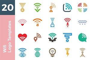 20 Logo Wifi Templates Bundle